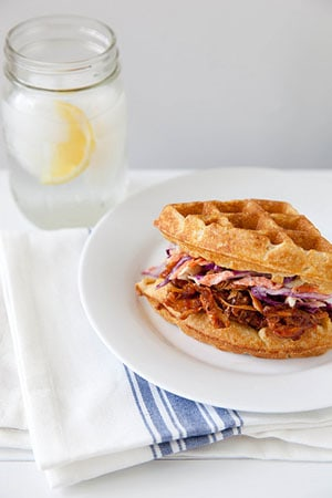 BBQ Chicken and Waffle Sandwich recipe