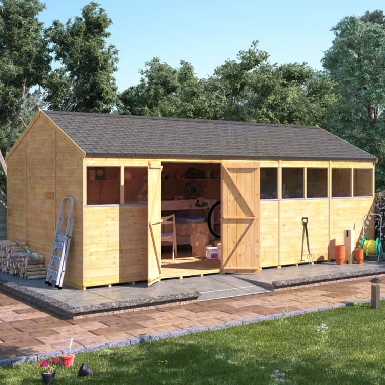 Garden Buildings Direct BillyOh Expert Tongue and Groove Reverse Apex Workshop