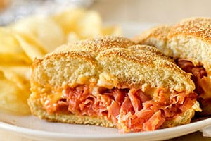 Chipped Ham BBQ Sandwich recipe
